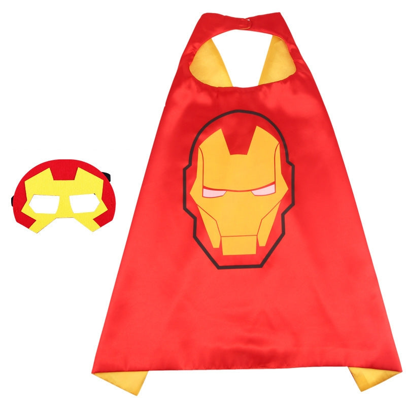 Children Super Hero Cape and Mask Costume Cosplay Set K6021F