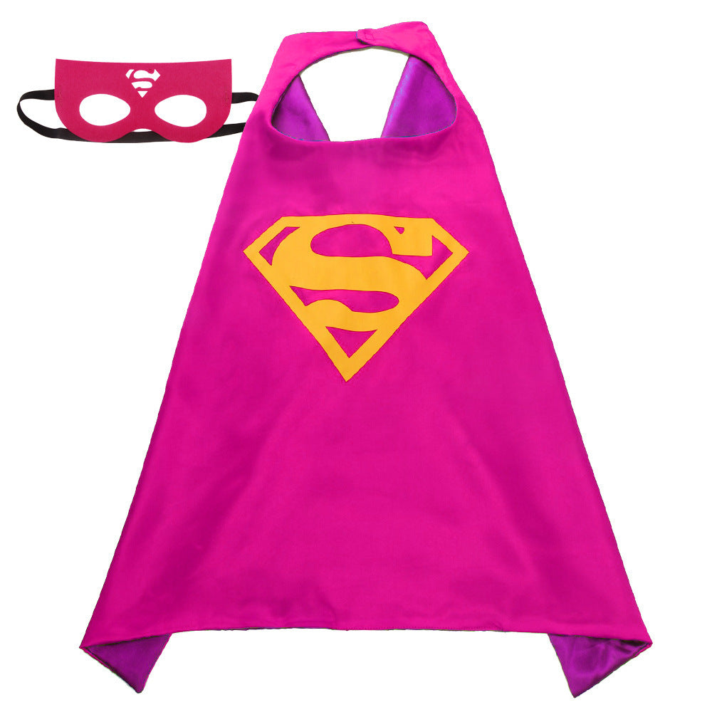 Children Super Hero Cape and Mask Costume Cosplay Set K6021H