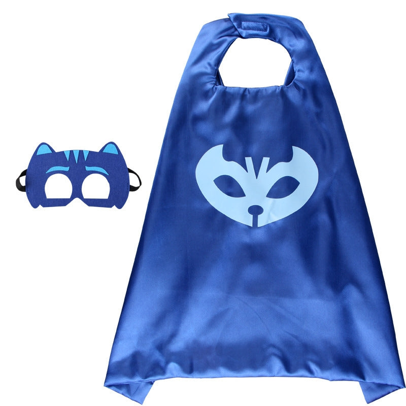Children Super Hero Cape and Mask Costume Cosplay Set K6021I