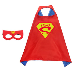 Children Superhero Cape and Mask Costume Cosplay Set K6021K