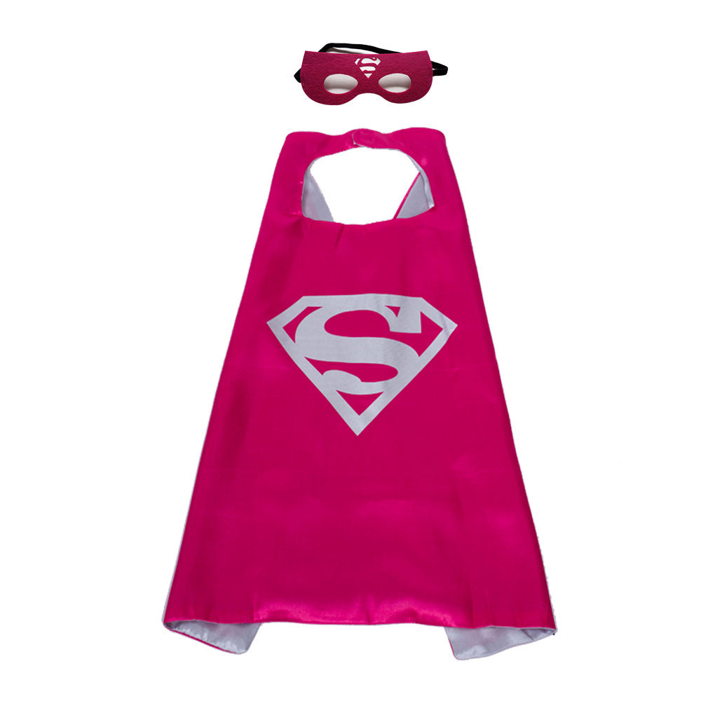 Children Super Hero Cape and Mask Costume Cosplay Set for Kids Party