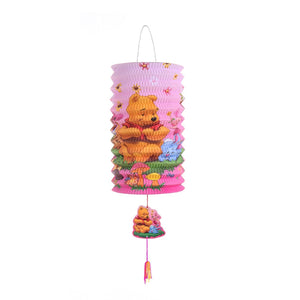 DIY Cartoon Lantern with LED light and Stick LT1001C