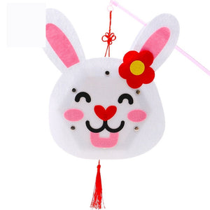 DIY Felt Chinese Zodiac Animals Lantern with LED light and Stick LT1012D
