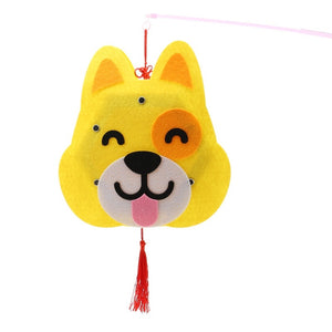 DIY Felt Chinese Zodiac Animals Lantern with LED light and Stick LT1012G