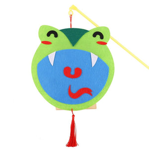 DIY Felt Chinese Zodiac Animals Lantern with LED light and Stick LT1012I