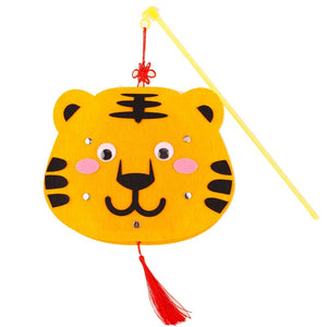 DIY Felt Chinese Zodiac Animals Lantern with LED light and Stick LT1012J