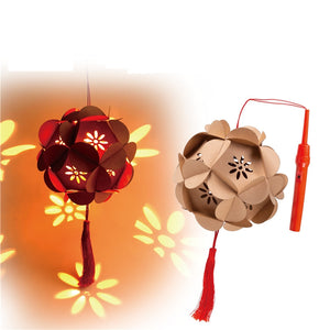 DIY Card Paper Lantern with LED light and Stick LT1013A