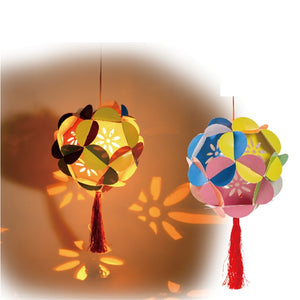 DIY Card Paper Lantern with LED light and Stick LT1013B
