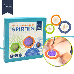 Mideer Art and Science of Spirals Template Game Tool Set MD1021A