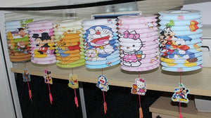 DIY Cartoon Lantern with LED light and Stick LT1001B