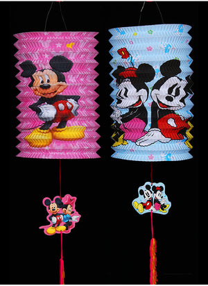 DIY Cartoon Lantern with LED light and Stick LT1001K