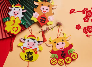 Ox Year Lunar New Year Art and Craft Decoration DIY Pack CNY1021K