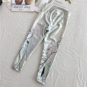 2-20Y Girls Frozen II Metallic Pants A20413E