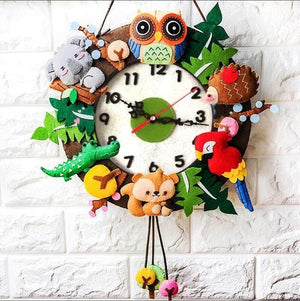 Make Your Own Felt Clock DIY Kit AC3013A