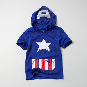 Captain America Kids Superhero Hoodie Shirt A10433L