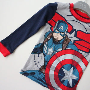 Captain America Pyjamas Sleepwear 2pcs Set A40421L