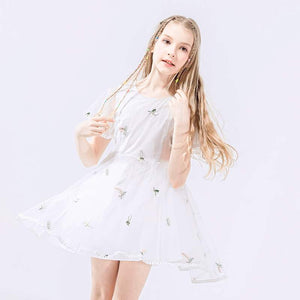 Girls Embroidery Floral Dress G20128L