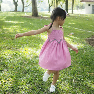 1-6Y Girls Purple Pink Summer Dress A20131B