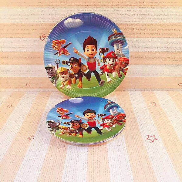Paw Patrols 7 inches Party Plates of 10pcs/pack P212B