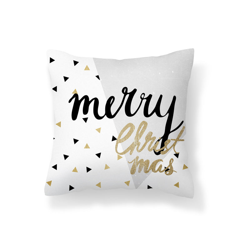 Flannel Double Sided Printed Christmas Cushion Covers PPD651B