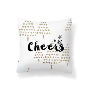 Flannel Double Sided Printed Christmas Cushion Covers PPD651C