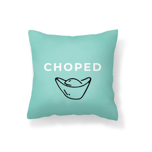 Flannel Double Sided Printed CHOPED Singlish Cushion Covers PPD657A