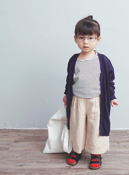 2-8Y Girls Navy Cardigan A2085D
