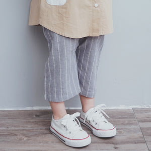 2-8Y Kids Grey Stripes Pants A2045B