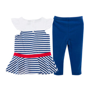 1-6Y Girls Blouse and Bottom 2pcs Set G301C