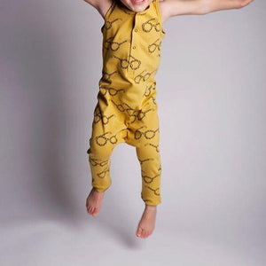 Boys Button Harem Bodysuit Romper A405D