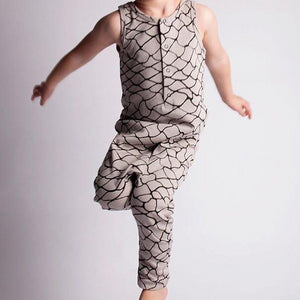 Boys Button Harem Bodysuit Romper A405C
