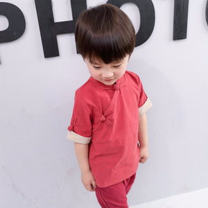 2-8Y Boys Mandarin Collar Top A100C13A