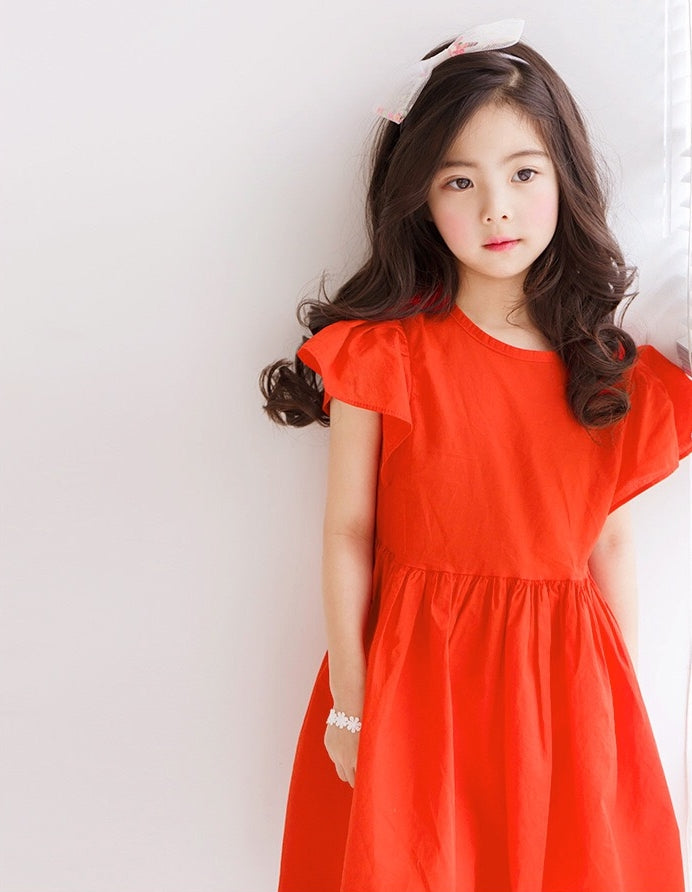 2-12Y Girls Orange Maxi Dress A2016F (Mother sizes available)
