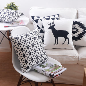 Flannel Double Sided Printed Cushion Covers FA654D