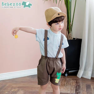 1-4Y Bebezoo Boys Blue Shirt with Pocket K1011I
