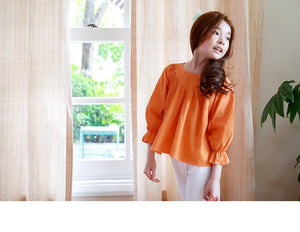 3-15Y Girls Orange Blouse G212A