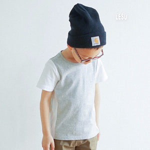 3-12Y Boys White Sleeves Grey Shirt by LESU A10441C