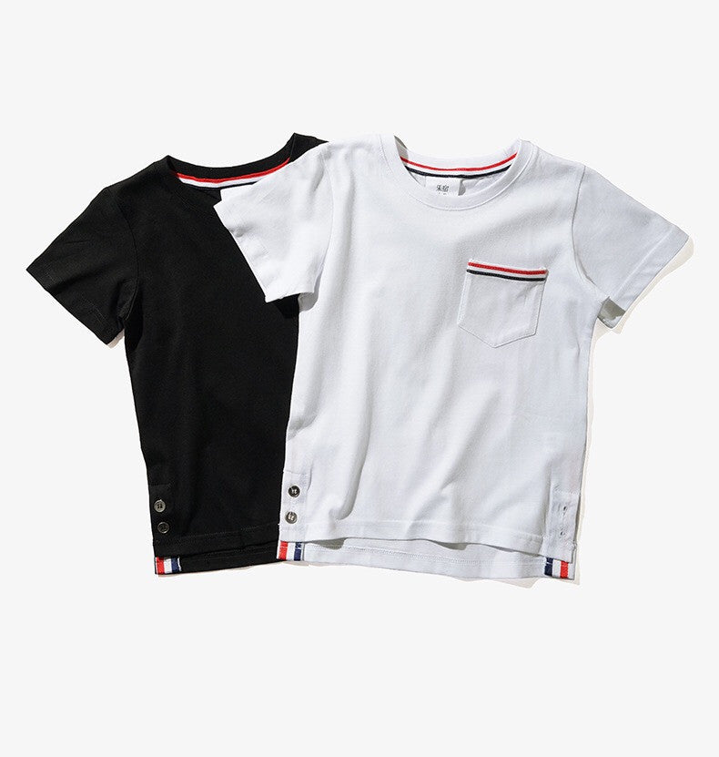 3-12Y Boys Black Short-Sleeves Shirt by LESU A10441I