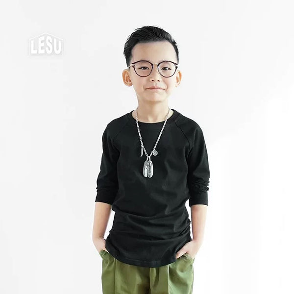 3-12Y Boys Black Shirt by LESU A1044I