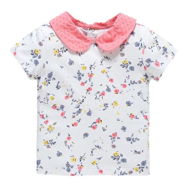 1-6Y Girls Jumping Beans Short-sleeve Shirts A231O