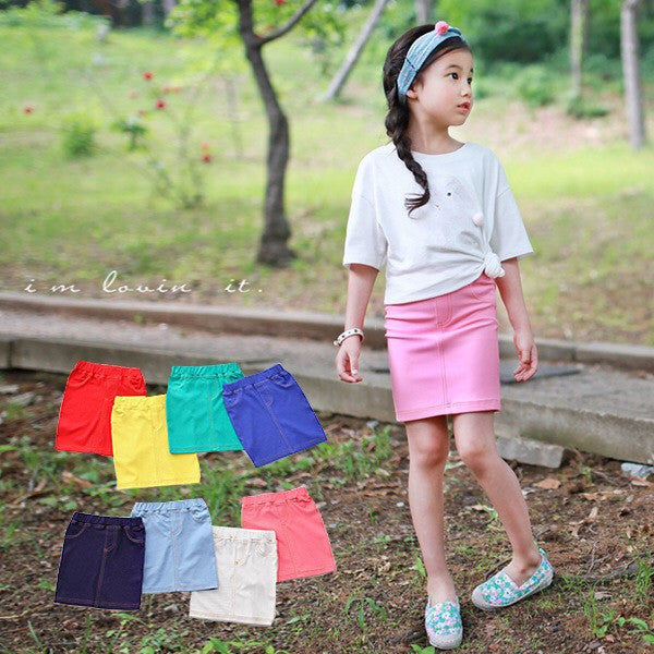 3-12Y Girls Red Pencil Skirt G2141C
