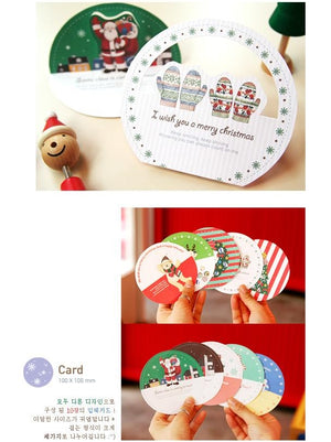 Korea design Christmas Cards Set of 10 - X781O