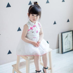 2-8Y Girls Cheongsam Tulle Dress A200C13K