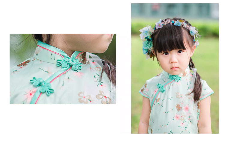 2-10Y Designer Series Silk Cheongsam A200C62M (Mother sizes available)