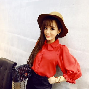 Women Red Shirt W1002A51C