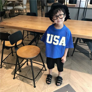 2-7Y Kids Korean Style Shirts A10412M / A10412N