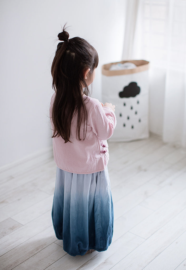 1-10Y Girls Gradient Blue Long Skirt A200C31E (Mother sizes available)