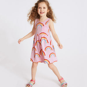 1-6Y Girls Little Maven Rainbow Dress A20128E