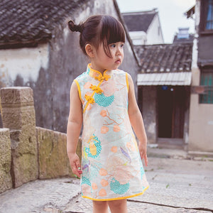 2-10Y Girls Cheongsam Dress A200C62N