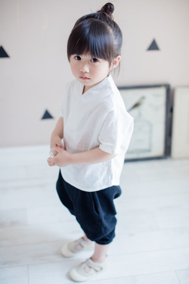 2-7Y Boys Kungfu Top and Bottom 2pcs Set A100C41A